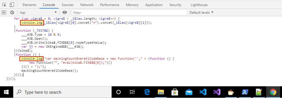Modified JavaScript