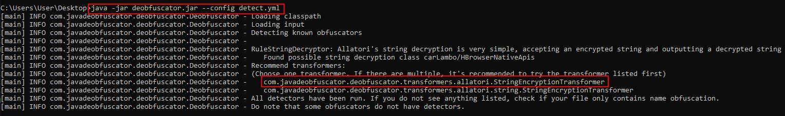 Detect Obfuscator Used